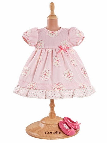 Corolle Pink Dress & Shoes 14-inch