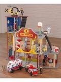 Deluxe Wooden Fire Rescue Play Set