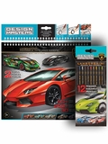 Design Masters Lamborghini Sketchbook and Colored Pencil Combo
