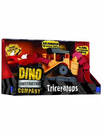 Dino Construction Company T-Top the Triceratops Bulldozer