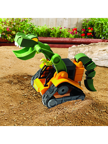 Dino Construction Company Wrecker the T-Rex Skid Loader