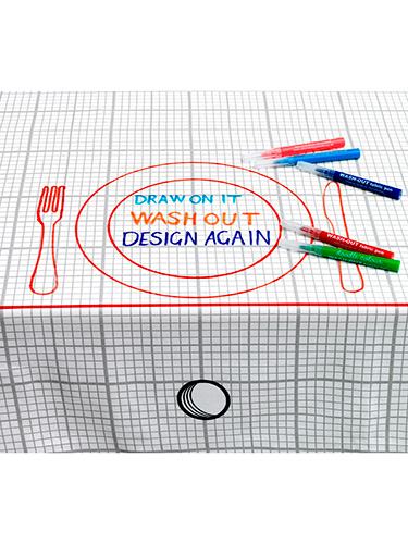 Doodle Draw-On, Wash-Out Tablecloth