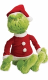 Dr. Seuss The Grinch Soft Doll in Santa Suit