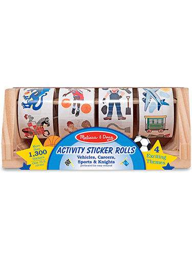 Dress-Up Sticker Rolls - Vehicles, Careers, Sports & Knights