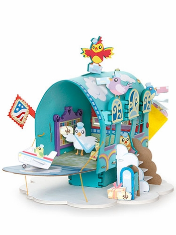 Feathered Friends Post Office 3-D Playtown Creativity Kit