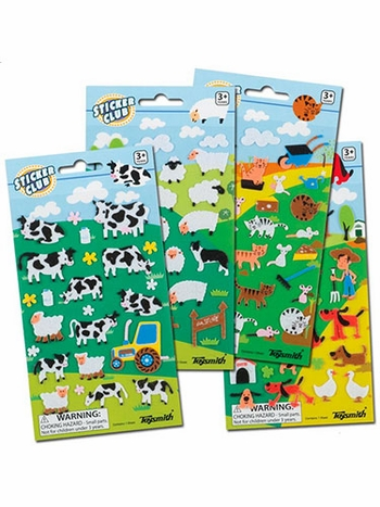 Felt Farm Animal Stickers
