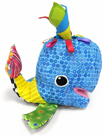 Franky The Hanky Whale Developmental Toy