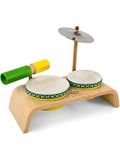 Green Tones Beginner Drum Set
