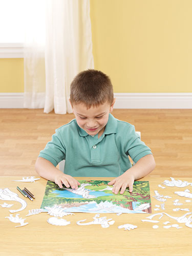 Imaginetics Color Me Dinos Magnetic Playboard