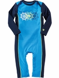 Infant Blue/Black Sun Protection Swim Romper