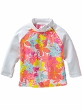 Infant Floral Rash Guard Sun Protection Top