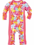 Infant Floral Sun Protection Swim Romper