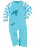 Infant Turtle Sun Protection Swim Romper
