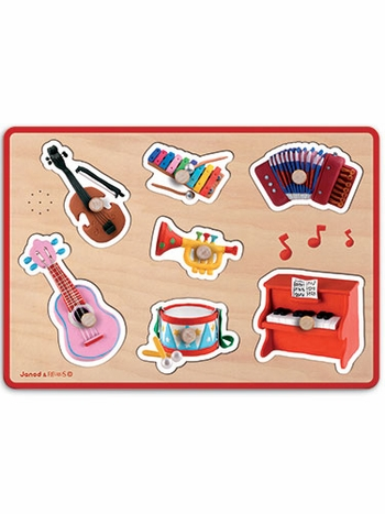 Janod Musical Instruments Sound Puzzle