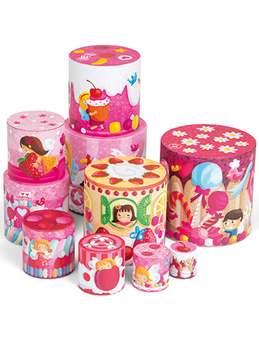Janod Sweet Treats Round Stacking/Nesting Pyramid