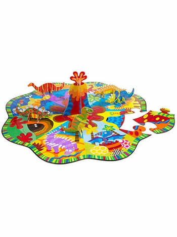 Little Hands Build and Play 3D Dinoland Floor Puzzle