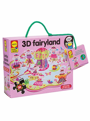 Little Hands Build and Play 3D Fairyland Floor Puzzle
