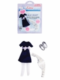 Lottie Doll Blue Velvet Outfit Set