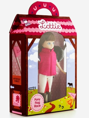 Lottie Pony Flag Race Doll