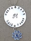 Monogrammed Necklace with Snowflake Charm