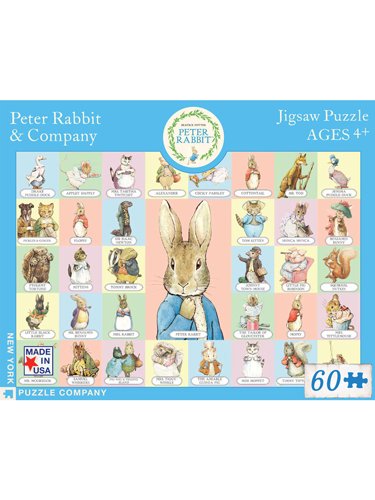 Peter Rabbit and Company 60 Piece Puzzle