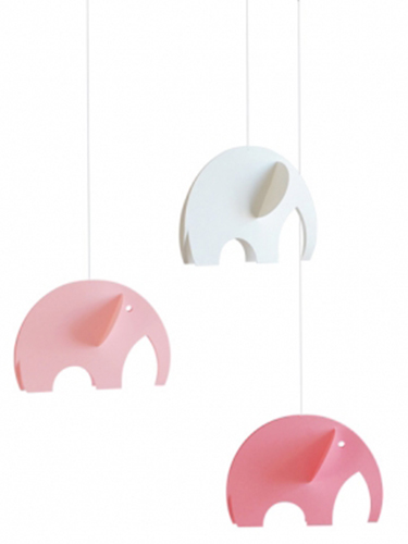Pink Elephants Mobile