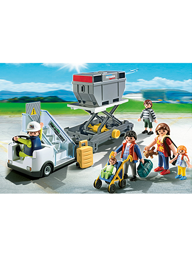Playmobil Aircraft Stairs with Passengers and Cargo 5262