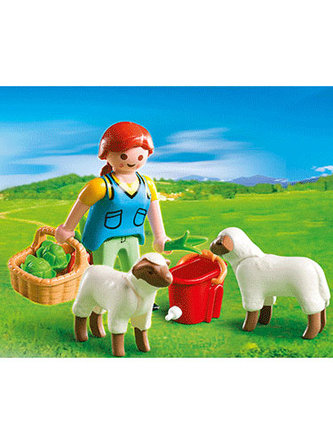 Playmobil Country Woman with Sheep Feed 4765