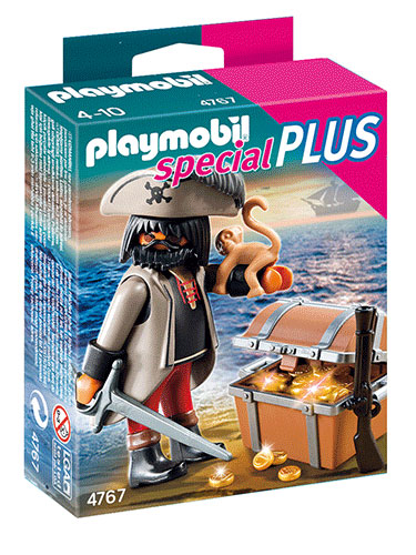 Playmobil Gloomy Pirate with Treasure Chest 4767