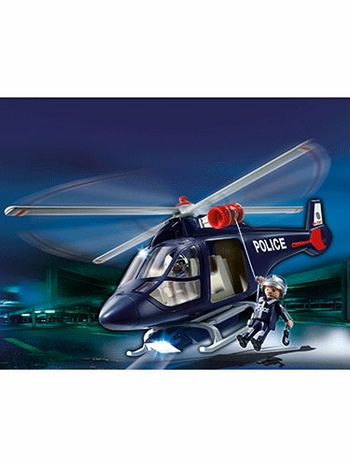 Playmobil Police Helicopter with LED Spotlight 5183