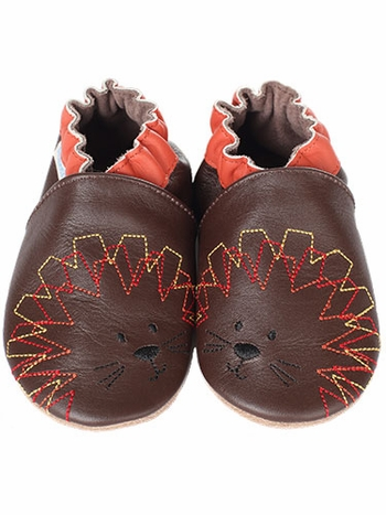 Robeez Curious Lion Soft Sole Leather Shoes