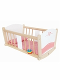 Rock-a-Bye Wooden Baby Doll Cradle