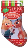 Rudolph Puzzle Stocking Bag