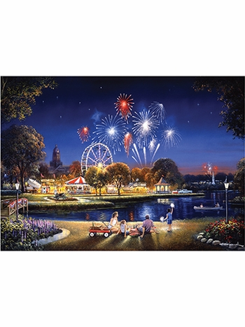Star Spangled 500-Piece Large Format Jigsaw Puzzle