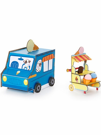 Sweet Sundaes Ice Cream Truck 3-D Playtown Creativity Kit