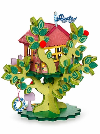 Twinkle Top Treehouse 3-D Playtown Creativity Kit