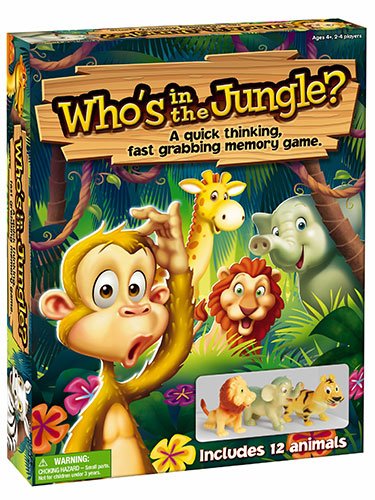 Who's in the Jungle Quick Thinking Fast Grabbing Memory Game