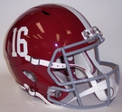 Alabama Crimson Tide #16 Speed Riddell Mini Football Helmet