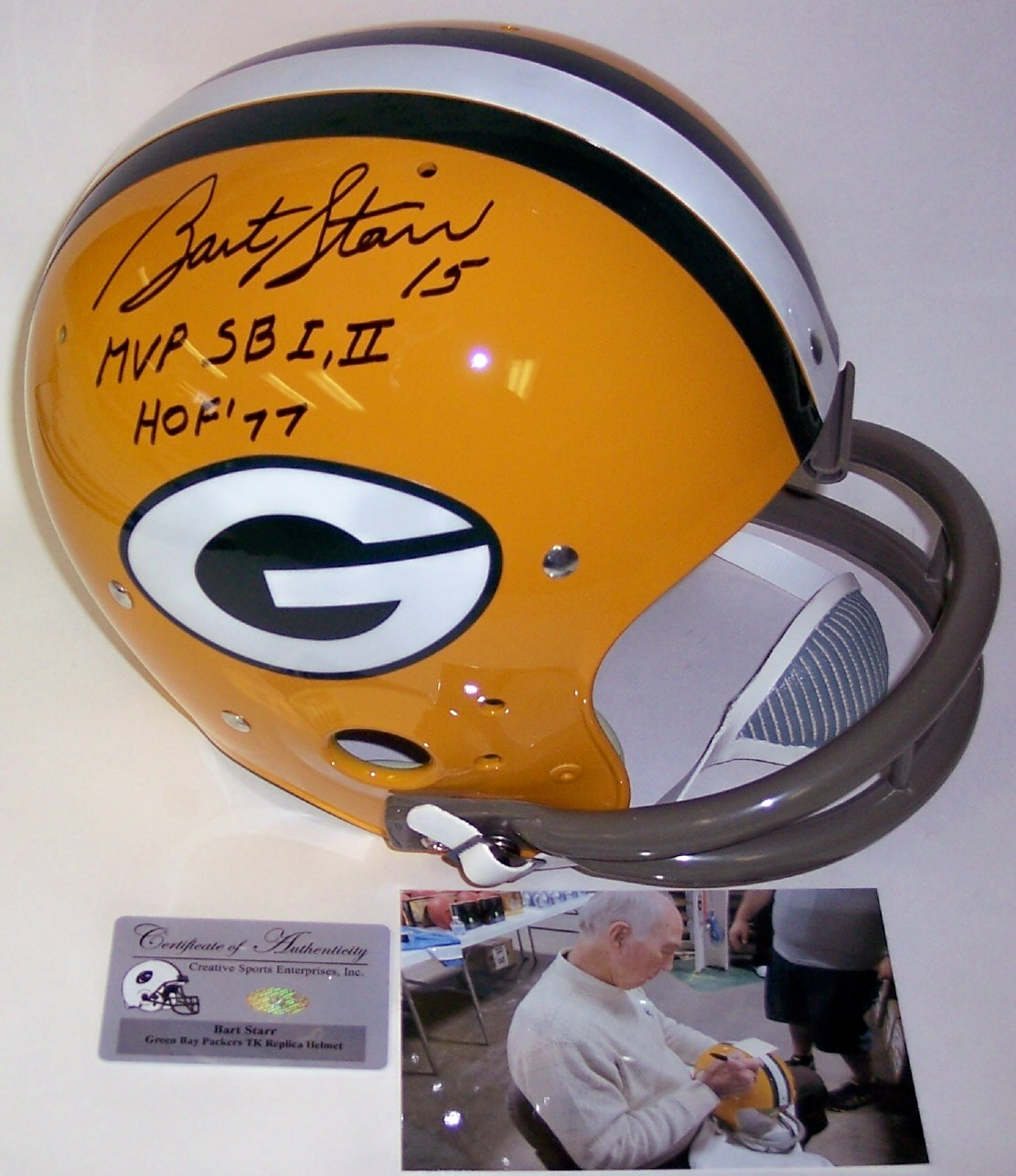 Bart Starr Autographed Football Bart Starr Autographed Full