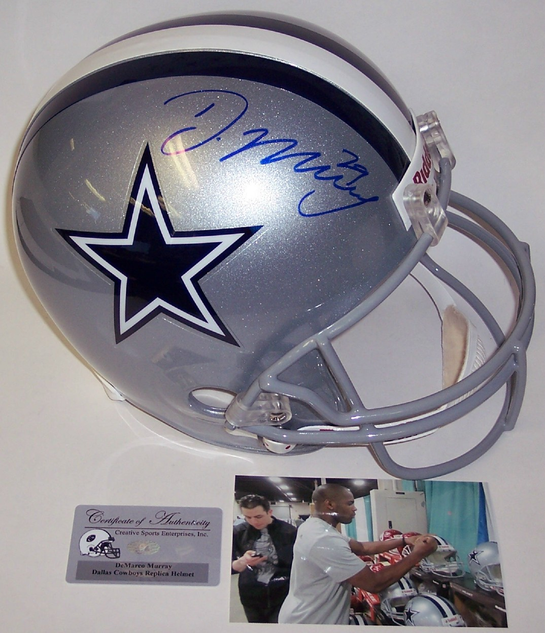 Autographed Full Size Riddell Football Helmet - Dallas Cowboys