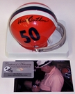 Dick Butkus - Riddell - Autographed 2-Bar Throwback Mini Helmet - Illinois