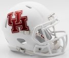 Houston Cougars Matte White Speed Riddell Mini Football Helmet