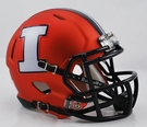 Illinois Fighting Illini Speed Revolution Riddell Mini Football Helmet