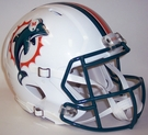 Miami Dolphins 1997-2012 Riddell Authentic Speed NFL Full Size On Field Football Helmet