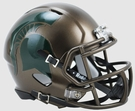 Michigan State Spartans Bronze Speed Riddell Mini Football Helmet