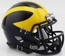 Michigan Wolverines Matte Finish Speed Riddell Mini Football Helmet