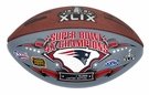 New England Patriots 4x Super Bowl Champs - Wilson Official Autograph Leather NFL� SUPER BOWL XLIX Full Size Football