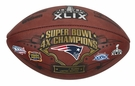 New England Patriots 4x Super Bowl Champs - Wilson Official Leather NFL� SUPER BOWL XLIX Full Size Game Football