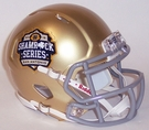 Notre Dame Speed Riddell 2016 San Antonio Shamrock Series Mini Helmet
