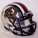 Ohio State Speed Revolution Riddell Liquid Chrome Mini Helmet